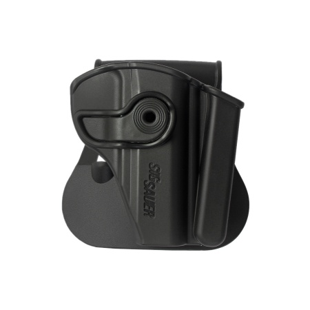 Polymer Retention Paddle Holster with Integrated Magazine Pouch for Sig Sauer P232, KEL-TEC P- 3AT .380, Ruger LCP
