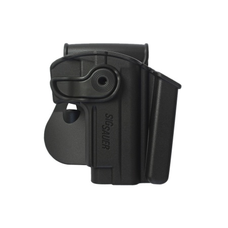Polymer Retention Paddle Holster Level 2 W/Integrated Magazine Pouch for Sig Sauer Mosquito